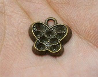 15pcs Antique Bronze butterfly Charm Pendants for Necklace / accessory DIY 17 mmx 18 mm (500-326-C)