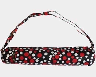 Yoga mat bag in African Print