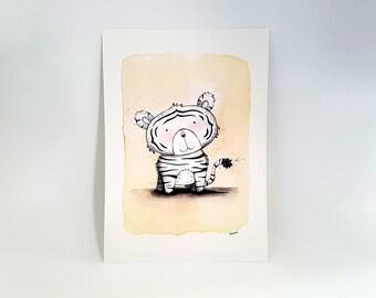 """White Tiger Print - A4 (8"""" x 10"""")"""