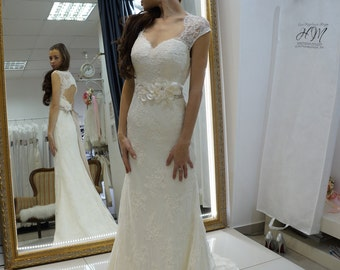 lace wedding dress Lara, mermaid wedding dress