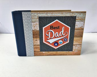 Dad Scrapbook Album, Premade Scrapbook Album, Mini Scrapbook, Father's Day Gift, Dad Gift, Photo Album, Family Scrapbook, Gift for Dad