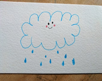 Happy Cloud Postcard - Proceeds go to an Animal Shelter!