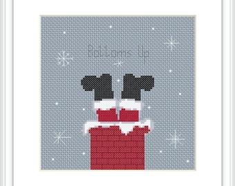 Christmas cross stitch pattern PDF Merry Christmas ** instant download** Xmas X174