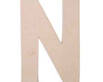 "Paper Mache 12"" Letter N"