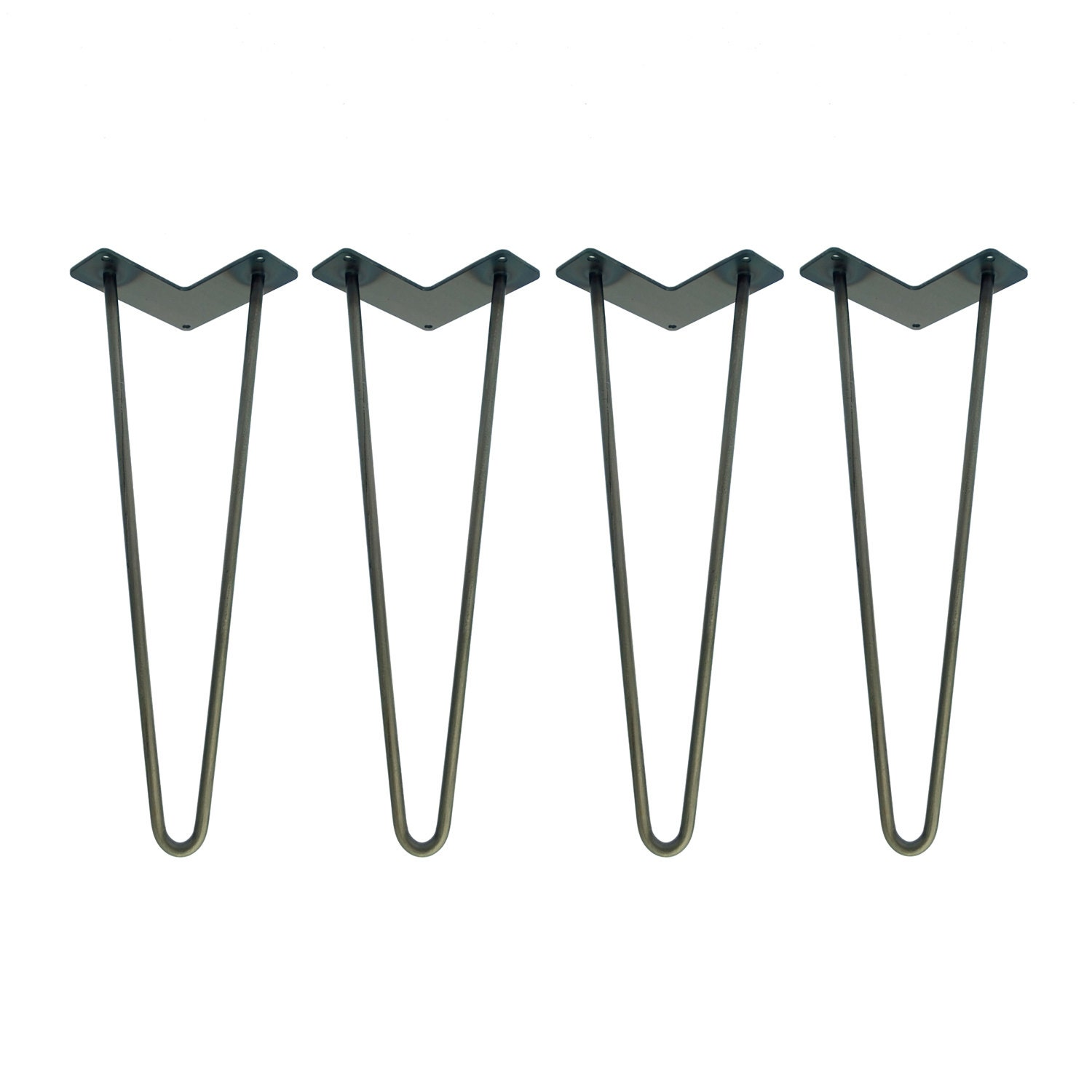 Hairpin Legs Set Of 4 Usa Made Raw Steel Hairpin Legs