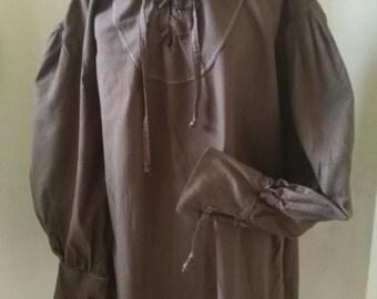 Brown Cotton shirt -USED - LARP Essentials