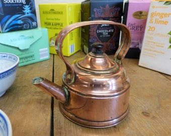 Cute Batchelor's Kettle - Tiny Tea for One Copper Kettle! (Stock #6438)