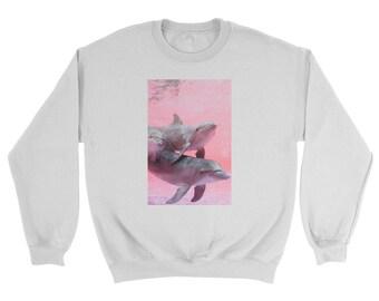 Vaporwave Dolphin Love Sweatshirt