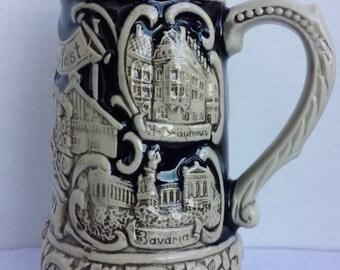 German Beer Stien/Mug Handcrafted by Zöller & Born-Stamp and designer AJ initial