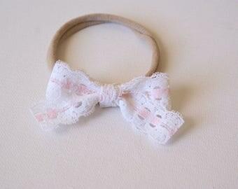 Vintage pink lace