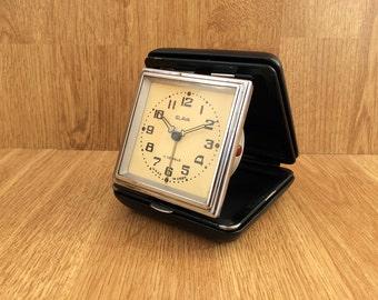 Vintage travel alarm clock Foldable clock Working mechanical clock Desk clock Russian clock Soviet Slava clock Home Decor Office decor