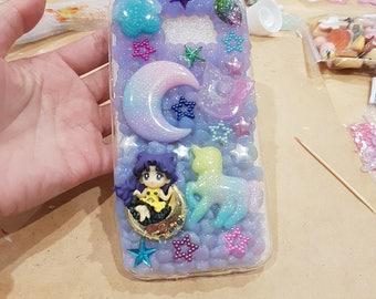 Sailor Moon Galaxy Lunar Purple Phone Case Samsung Galaxy S7