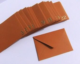 Advent calendar envelopes for vouchers vouchers advent calendar calendar advent Brown