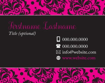 Business Card - Black & Hot Pink