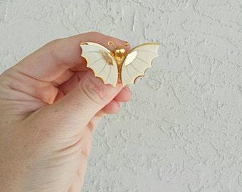 Vintage Golden Bat Brooch