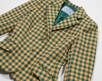 PRADA - tartan jacket