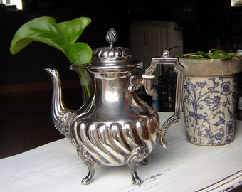 Orig. silver plated engl antique jug - noble