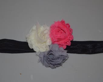 Shabby Flower Headband - Child Headband - Baby Headband