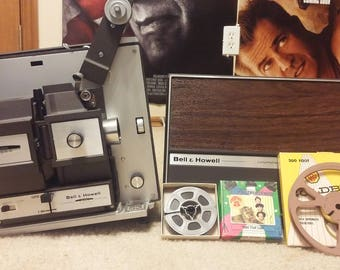 Bell & Howell 8MM ( And Super 8MM ) AutoLoader Lot: Movie, Case, Film Reels