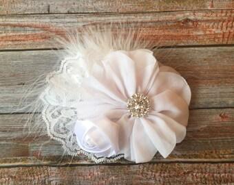 White Flower First Communion Hair Clip/1st Communion Hair Clip/Baptism Hair Clip/Christening Hair Clip/1st Communion Hair Piece/Hair Bow