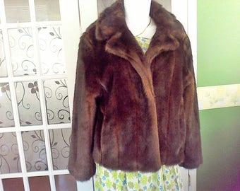Faux Fur Jacket, Women's Medium, Donna Salyers' Fabulous Furs Style 13181, Fur Coat, USA's finest Faux Furrier