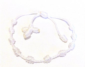 how to make a knotted rosary bracelet