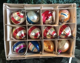 Nice box of Poland mix color Christmas tree ornaments