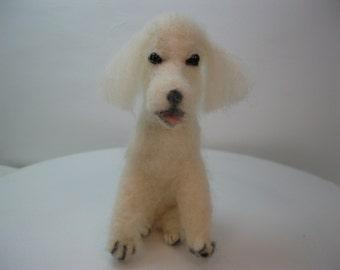 Needle felted standard poodle