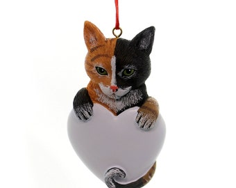 Calico Cat Personalized Christmas Ornament, Ornament, Cat, Feline Personalized, Cat Personalized Christmas Ornament