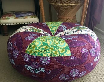 Unfilled Large La Boheme Floor Cushion Cover, Made in Australia, Ottoman, Meditation Cushion, Pouffe, Boho, Pouf, Hippy Chic, Gypsy