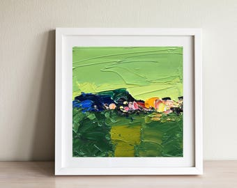 Green Abstract Art Oil Painting Green Art Abstract Canvas Art Original Art Green Painting Abstract Landscape Art Unique Gifts