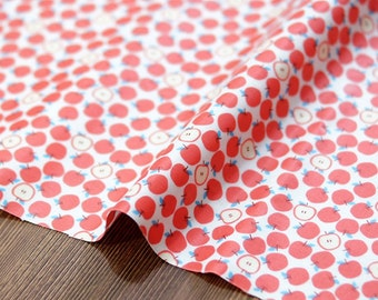 Laminated  Cotton Fabric Apple printed Fabric made in Korea by the Yard