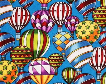 Air Balloons patterned Fabric printed in Korea for Hobby Lobby by the Half Yard