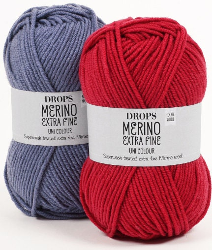 Drops Merino Extra Fine is excellent for these projects. It is a 8ply 100% yarn.