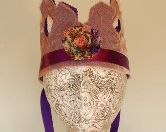 Purple Shimmer Royal Felt Crown
