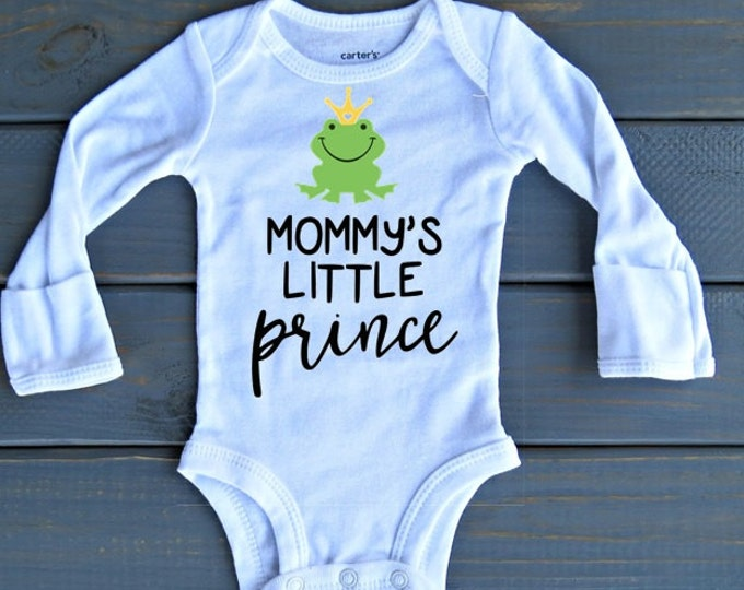 Prince Bodysuit, Baby Boy Clothes, Baby Shower Gift, Mommy's Little Prince, Funny Onesies, Bring Home Outfit
