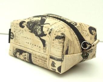 Japanese Print Mini Make-Up Bag