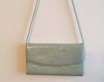 Faux Leather Bag - Light Green Shoulder Bag- Light Green Handbag - Light Green Purse - Light Green Bag