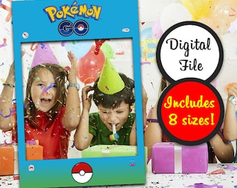 Pokemon Photo Booth Prop, Instant Digital Download, Pokemon Party, Pokemon GO Gifts