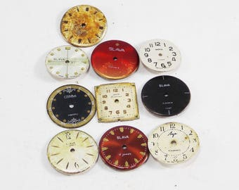 Craft watch Steampunk supply quartz watch face for beading industrial jewelry watch movement small clock jewelry making vintage watch parts