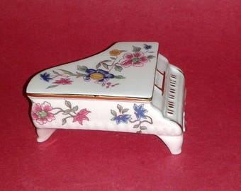 Rare HAMMERSLEY Bone China PIANO Figurine ~ Vintage Collectible ~ Made in England
