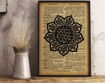 Mandala Poster, Mandala Art Print, Sacred geometry decor, Mandala spiritual gift, Esoteric decoration  (MA03)
