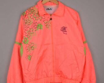 vintage fila windbreaker, fila jacket, fila vintage track jacket