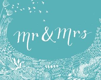 Greetings Card - Mr & Mrs
