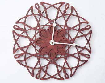 large wall clock electrons flower walnut wood clock large clock modern clock
