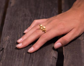 Cluster Ring - Gold & Rose Gold