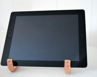 Copper IPad / Tablet Stand, Fathers Day Gift, Copper Stand, Docking Station, Charging Stand, Copper Charging Stand, Birthday Gift