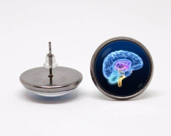 Human brain earrings Brain earrings Anatomical jewelry Anatomy earrings Anatomy jewellery Nurse gift Doctor gift Neuroscience Medical Geek