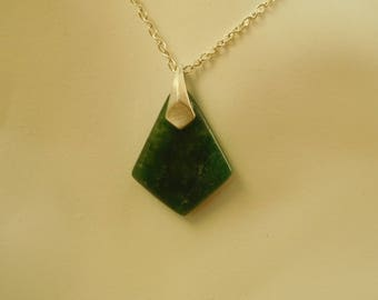Jadeite and sterling pendent.