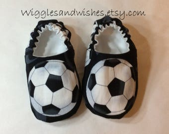 Soccer baby shoes, crib shoes, baby loafies